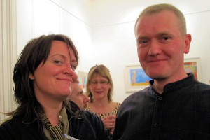 Anne Gildea of 'The Nualas' who opened the show with artist Brian Gallagher at the exhibition opening