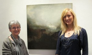 Ken Brown's mother Joan Browne and Michelle Costello at the exhibition opening.