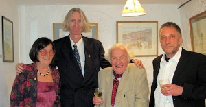 Artist Veronica Heywood, Curator Tony Strickland, writer John Courlander and William Wood at the exhibition opening.