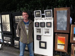 Artist Jay Walker at the exhibition