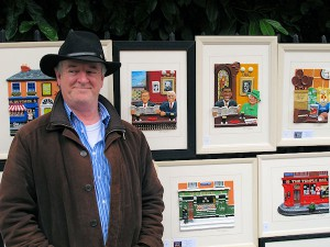 Artist Brendan Pierce on Stephen's Green