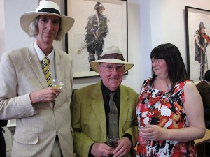 Tony Strickland, Aidan Doyle and Angel Loughrey at the exhibition opening