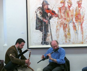Traditional Musicians at the exhibition opening
