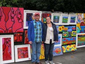 Artist John Nolan and Jillian Hanrahan at people's Art