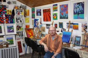 John Nolan in his studio