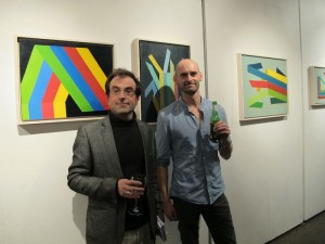 Olivier Cornet (Olliart) with artist John Fitzsimons at the exhibition opening