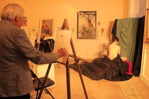 Life Drawing at Powerscourt on Culture Night, 2011