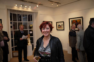 Poet Kate O'Shea at the exhibition opening (photo Fusion Photography)