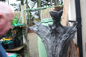 Gerry Cahir with a piece of bog oak
