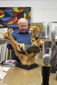 Jerry with one of his sculptures