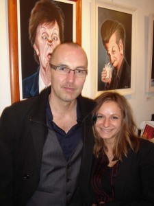 Niall O'Loughlin and Lucie Pacovska at the official opening of Niall O'Loughlin's new show