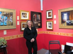 Artist Ursula Klinger at Art Fair 2011