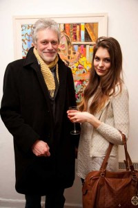 Nick Grey & Becky Grey at the exhibition opening
