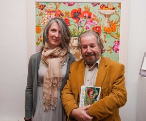 Artist Lucy Doyle & Paolo Tuillio at the exhibition opening