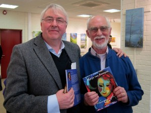 Ronnie O'Gorman who launched the book with Dick Donaghue who wrote the book at the book launch