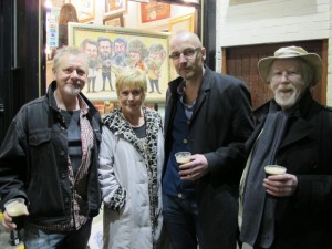 Artists Dave Gleeson, Pervaneh Matthews, Niall O'Loughlin and Ray Sherlock at the exhibition opening