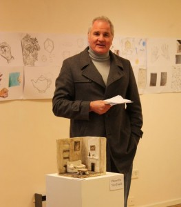 Brent Pope opening the exhibition