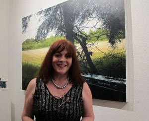 Artist Geraldine O'Reilly at the exhibition opening
