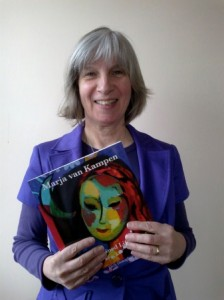 Marja van Kampen with the book on her life and her art