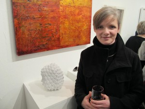 Sligo Sculptor Martha Quinn at the gallery opening