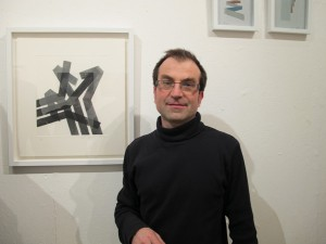 Olivier Cornet at the gallery opening