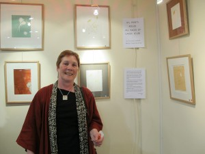 Zan O'Doherty at the exhibition opening