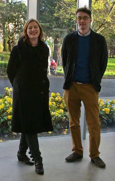 Annie Fletcher, curator, and Woodrow Kernohan, director of eva international