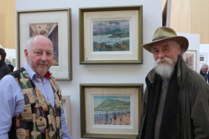 Artists Fergal Flanagan and Noel Lewis at the exhibition opening (photo Liam Madden)