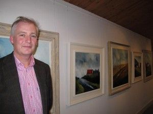 Padraig McCaul at the opening of his exhibition (photo Liam Madden)