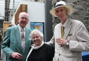 Nell McCafferty with Aidan Doyle and Tony Strickland