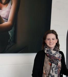 Sheelah Moloney inside the Gallery (photo Liam Madden)