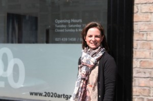Sheelah Moloney outside the 2020 Gallery (photo Liam Madden)