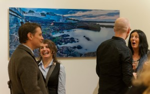 at the exhibition opening
