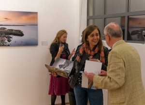 Cllr. Melisa Halpin at the exhibition opening