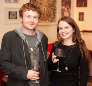 Kieran Bollard and Sorcha Mellon at the Art Auction Launch