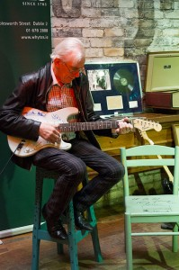 "Shay Healy plays lot 124 - ""The Rolling Stones: Autographed Fender Stratocaster Squier guitar"""