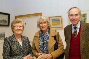 Club secretary Pat McGloughlin (left) with Carol and Joe McKenna (photo Liam Madden)