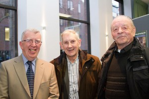 Artists Paul Kavanagh, Vincent Lambe and George Corcoran at the exhibition launch (photo Liam Madden)
