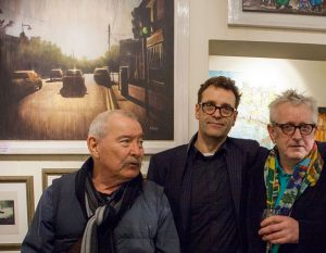 Artists George Dunne, Tom Byrne and Graham Knuttel at the opening