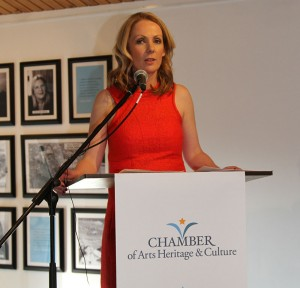 Audrey McKenna at the launch of Chamber of Culture