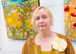 Artist Eadaoin Harding Kemp at the exhibition opening