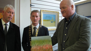 Cllr. Stephen Fitzpatrick and Artist Michael Palmer at the exhibition opening