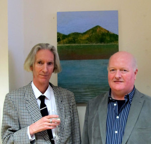 Curator Tony Strickland  and Artist Michael Palmer at the exhibition opening