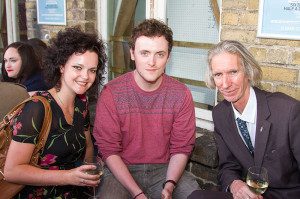 Sarah Manson, Robert Manson and Tony Strickland at the launch