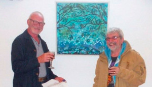 Artists Jim Mercer & Billy Green at the exhibition opening