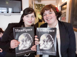 Naomi Elster and HeadSpace founder Orla Price (photo Sebastian Dooris)