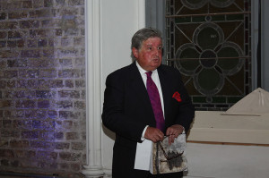 Ciarán MacGonigal delivering the opening speech at the exhibition (photo Liam Madden)