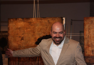Artist Jordi Fornies at the exhibition opening (photo Liam Madden)