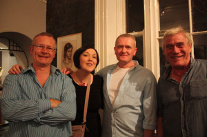 Kevin McSherry, Mairead Gallagher, Brian Gallagher & Pat Pidgeon at the exhibition opening (photo Liam Madden)