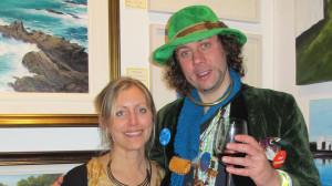 Artist Petra Berntsson with Derek O'Shaughnessy